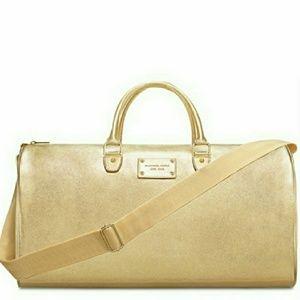 🆕Michael Kors Gold Metallic Weekender Travel Bag